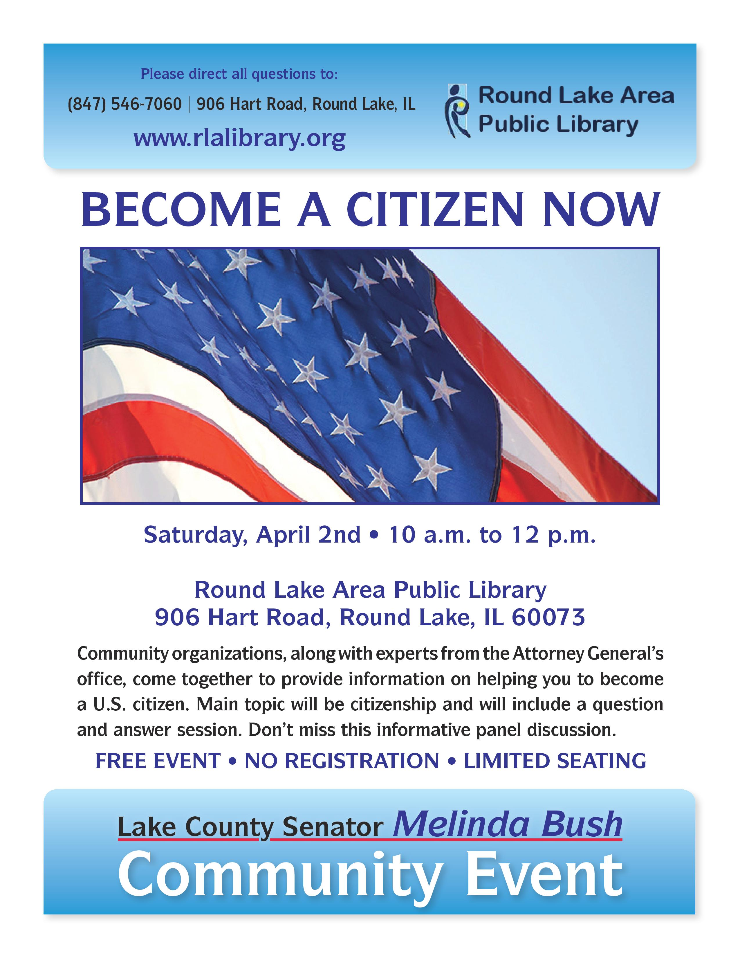 Round Lake Area Public Library Citizenship Forum Flyer 04 02 2016 page 001