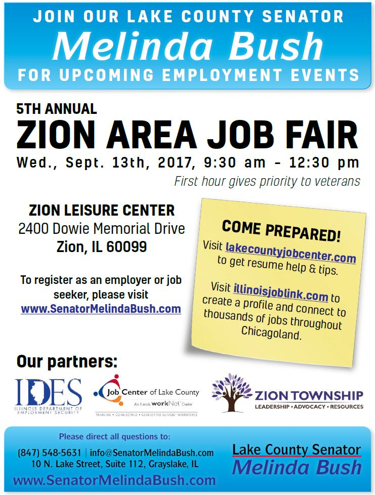 Zion job fair flyer