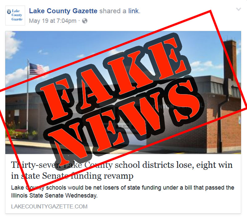 Lake County Gazette fake news image