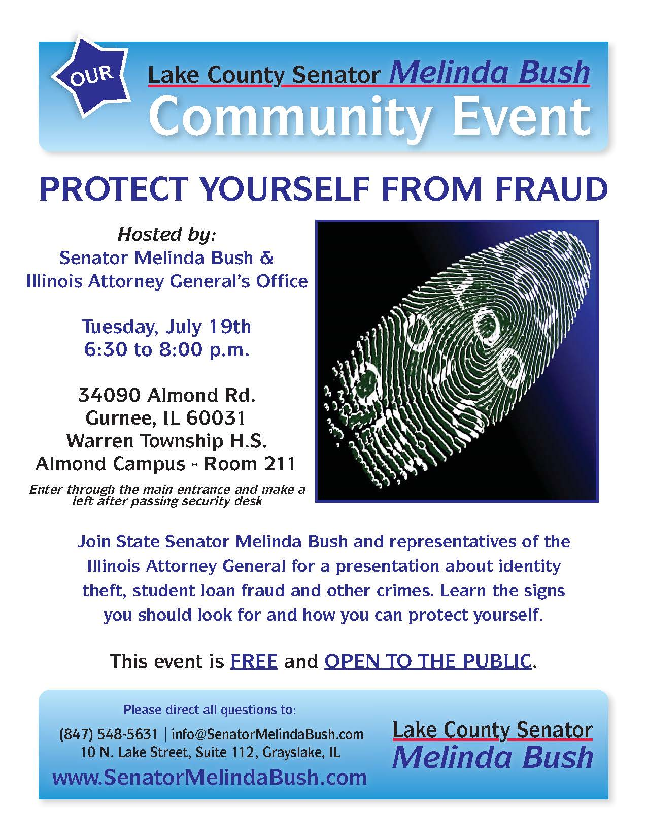 Gurnee Fraud Prevention Event